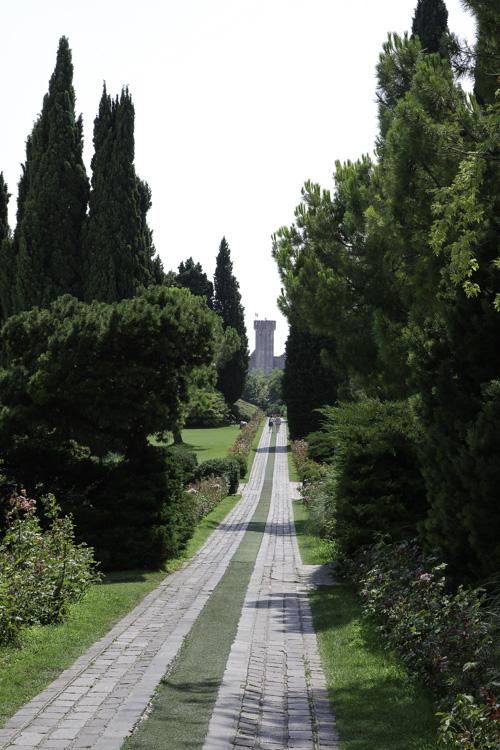 Allée de la roserai dans le Parco-Giardino Sigurta