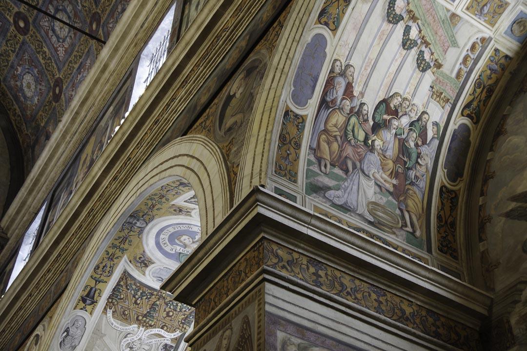 Détail du choeur des nonnes à Brescia