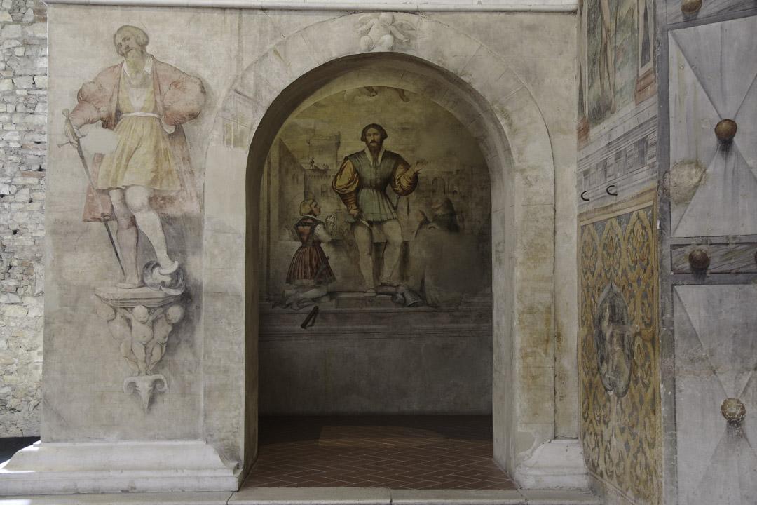 détail d'une fresque dans le choeur des nonnes de Brescia