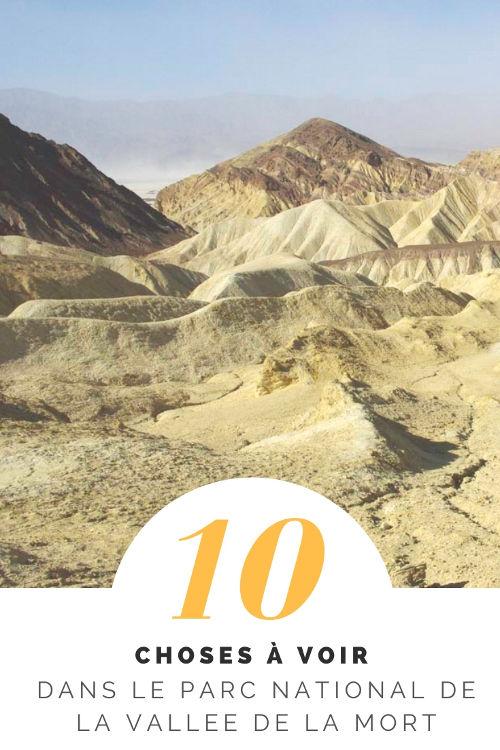 10 choses à voir dans la Vallée de la Mort en Californie #DeathValley
