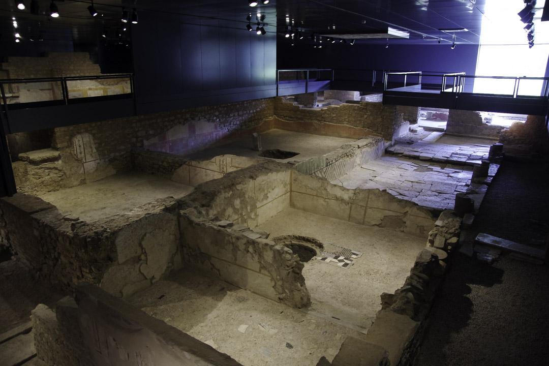 Ruines antique dans le musée de la ville de Brescia