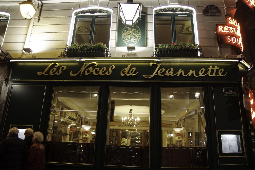 Restaurant à Paris Les Noces de Jeannette