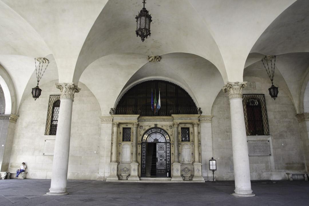 Entrée du Palazzo della Loggia - Brescia