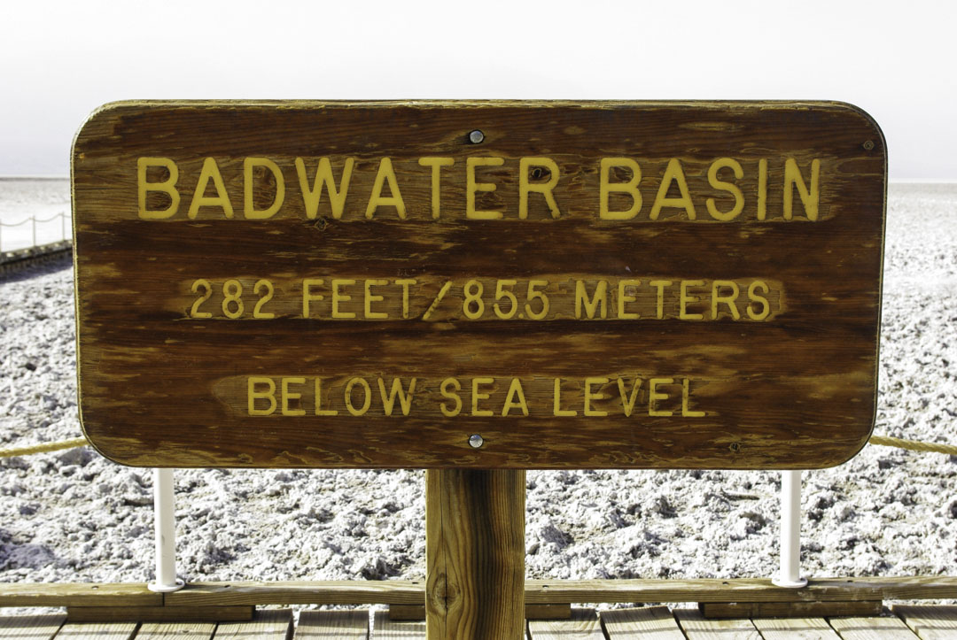 Badwater Bassin, le point le plus bas d'Amerique du Nord - Death Valley National Park