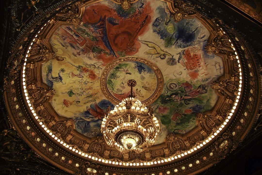 Plafond de Chagall dans l'Opéra Garnier