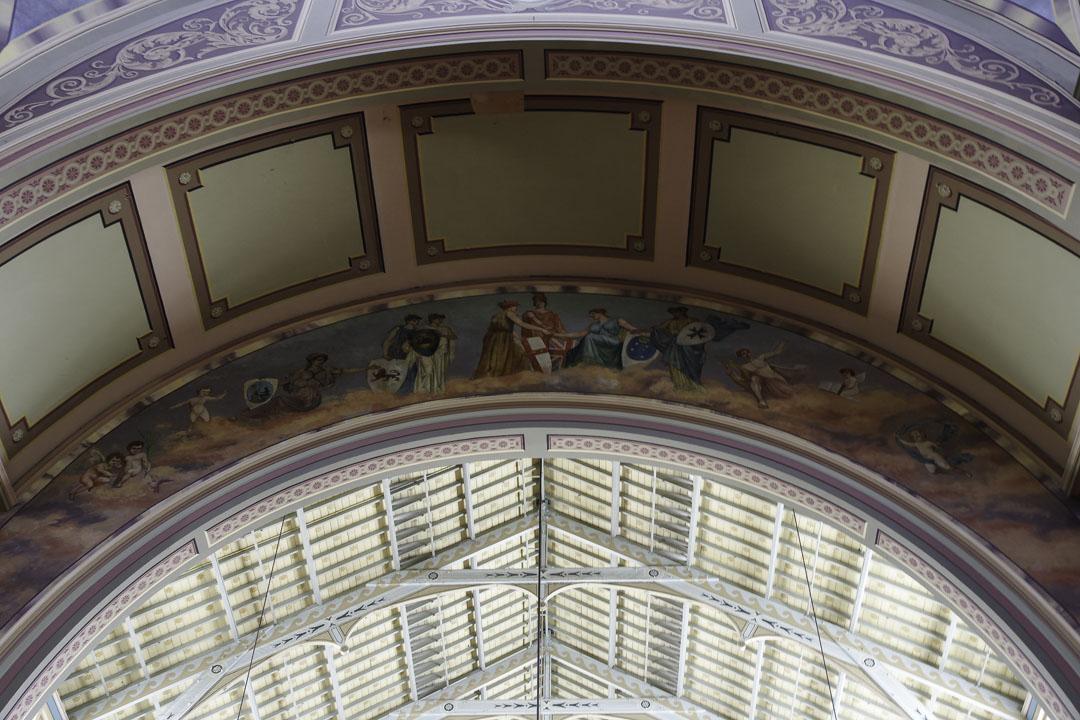 Détail de la décoration du Royal Exhibition Hall