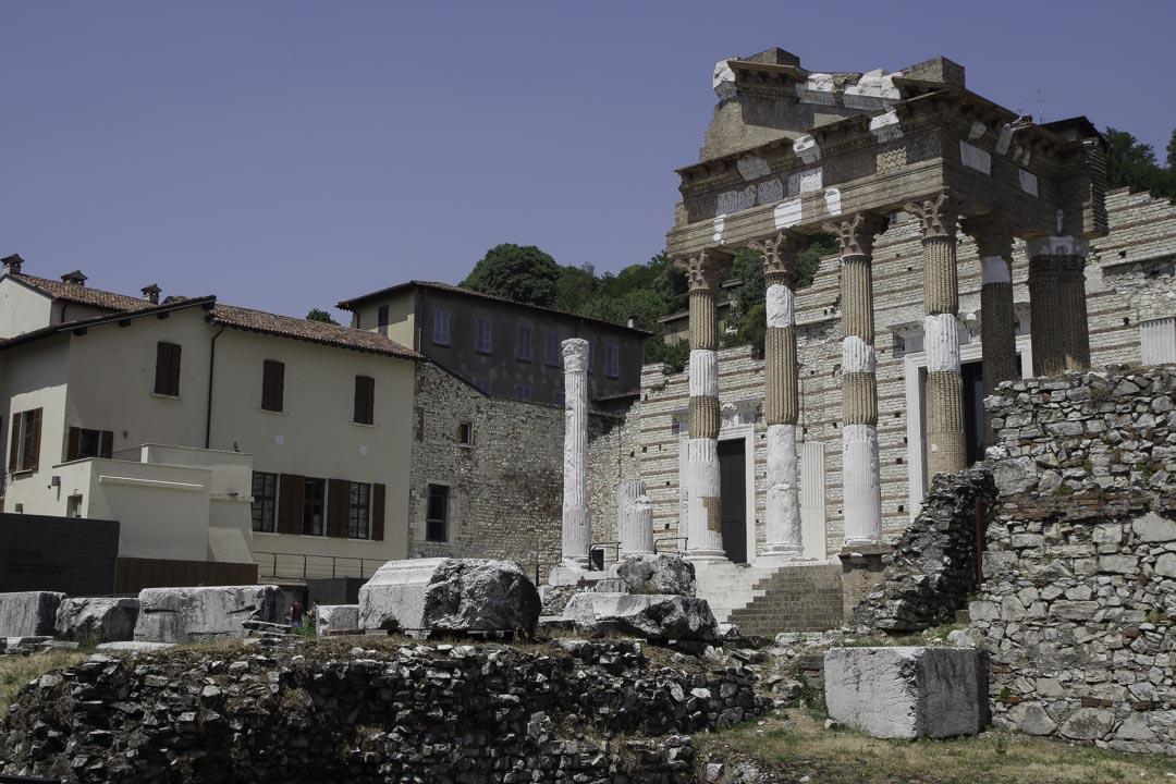 Ruines antiques de Brescia
