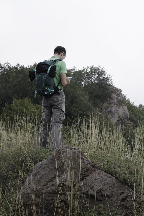 en randonnée avec le sac à dos Osprey