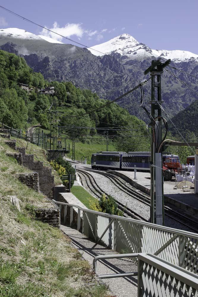 Gare de Queralbs dans le Vall de Nuria