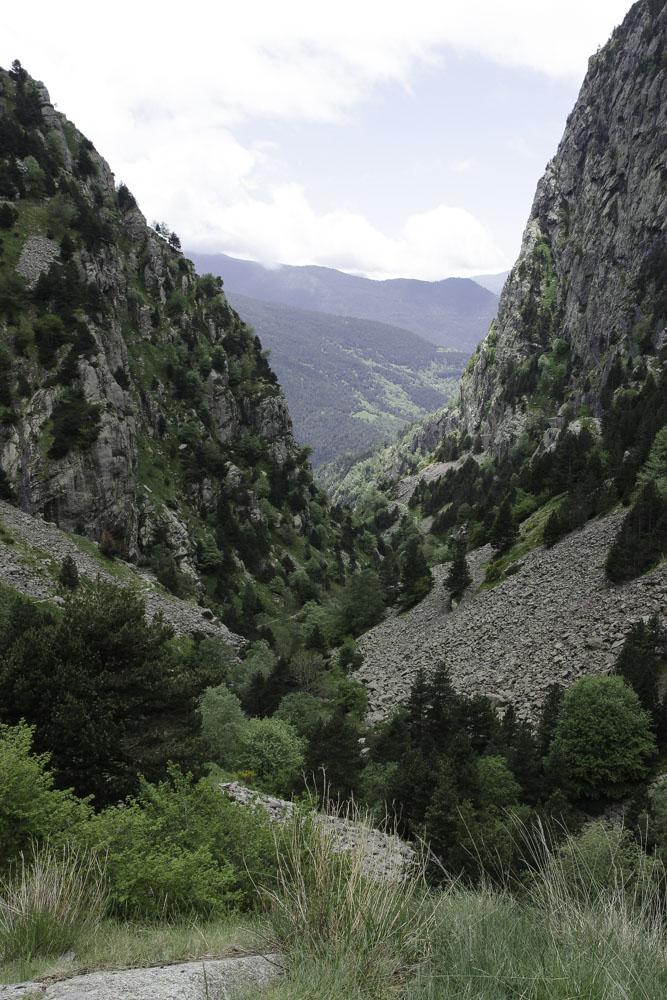 Gorges du vall de Nuria en Catalogne