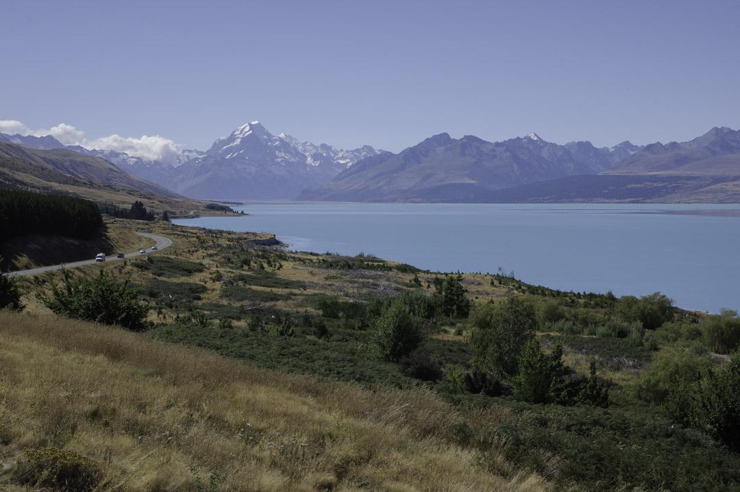 Vue panoramique sur le lake Pukaki
