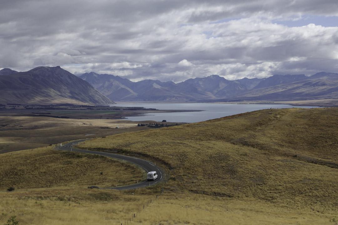 Panorama sur le lac Tekapo - Nouvelle Zélande