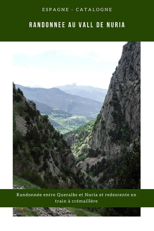 Itinéraire de randonnée dans le Vall de Nuria en Catalogne