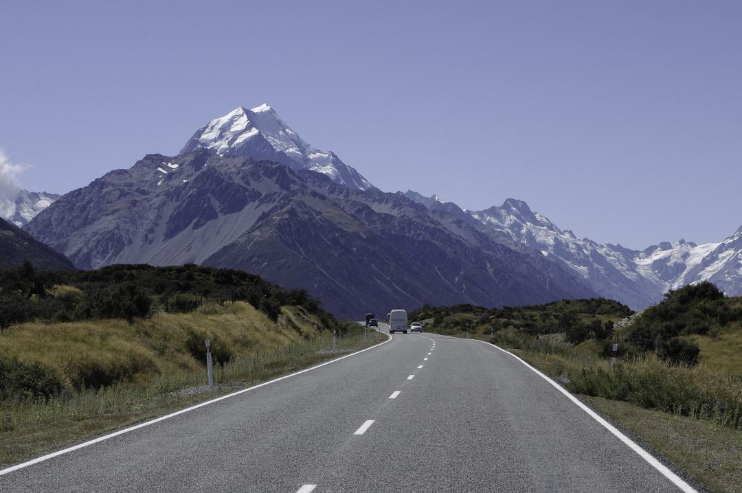 Route 80 pour aller vers le mont Cook