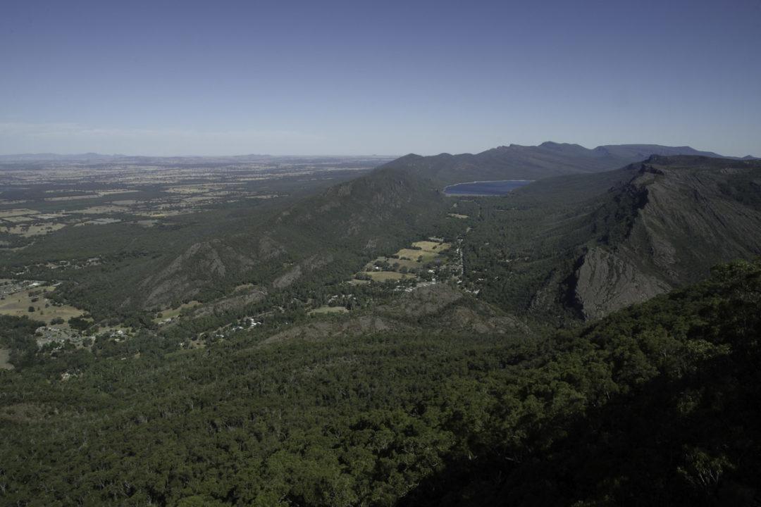 Boronia Lookout : vue sur les montagnes des Grampians