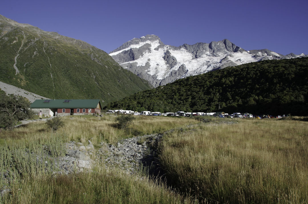 Camping DOC dans le Parc National du Mont Cook