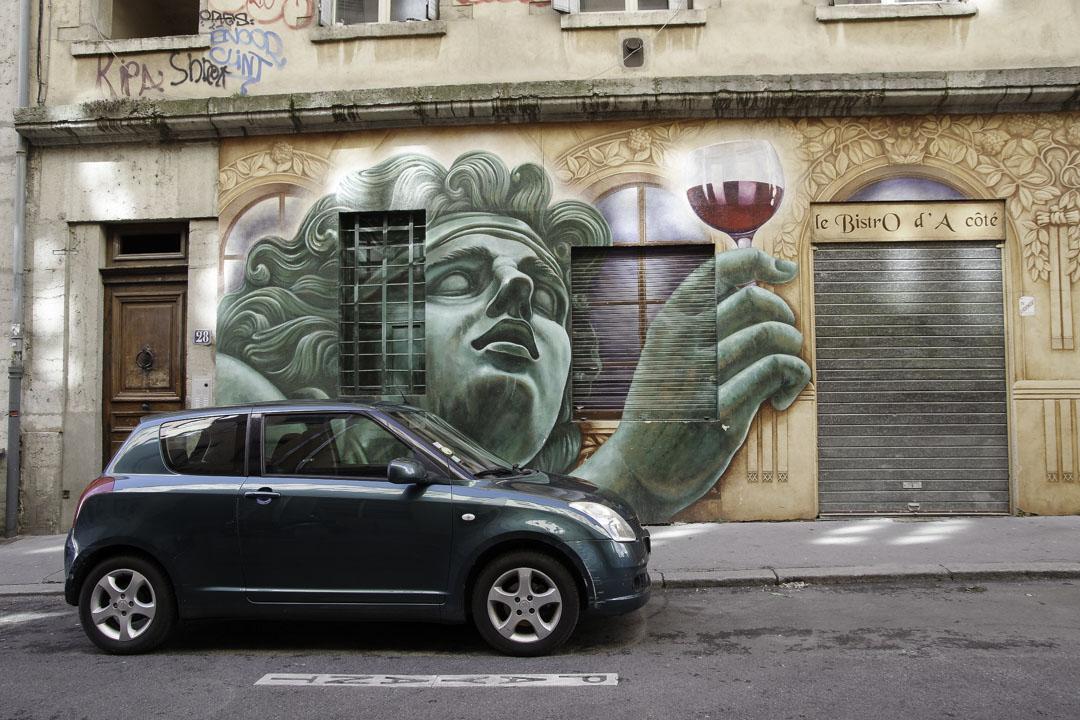 Fresque pour un bistrot de Lyon