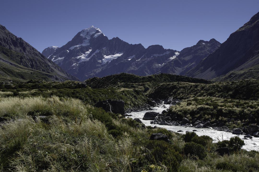 Hooker River et le Mont Cook
