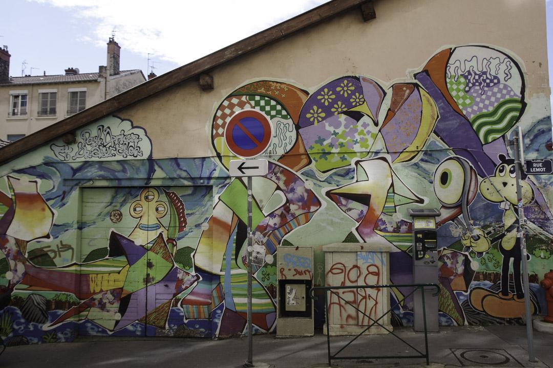 Du street art sur les pentes de la Croix Rousse