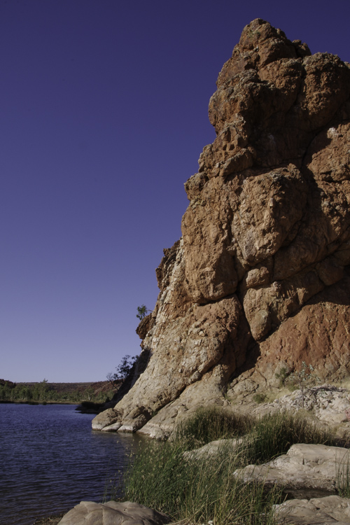 Waterhole de Glen Helen Gorge