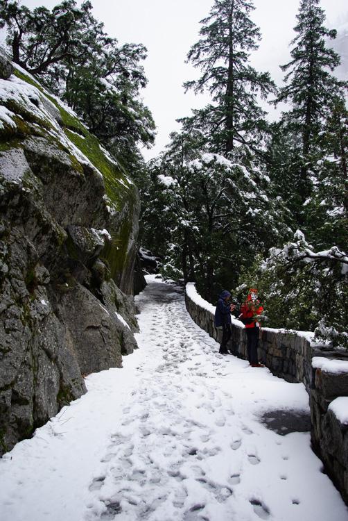Randonnée dans Yosemite National Park en hiver