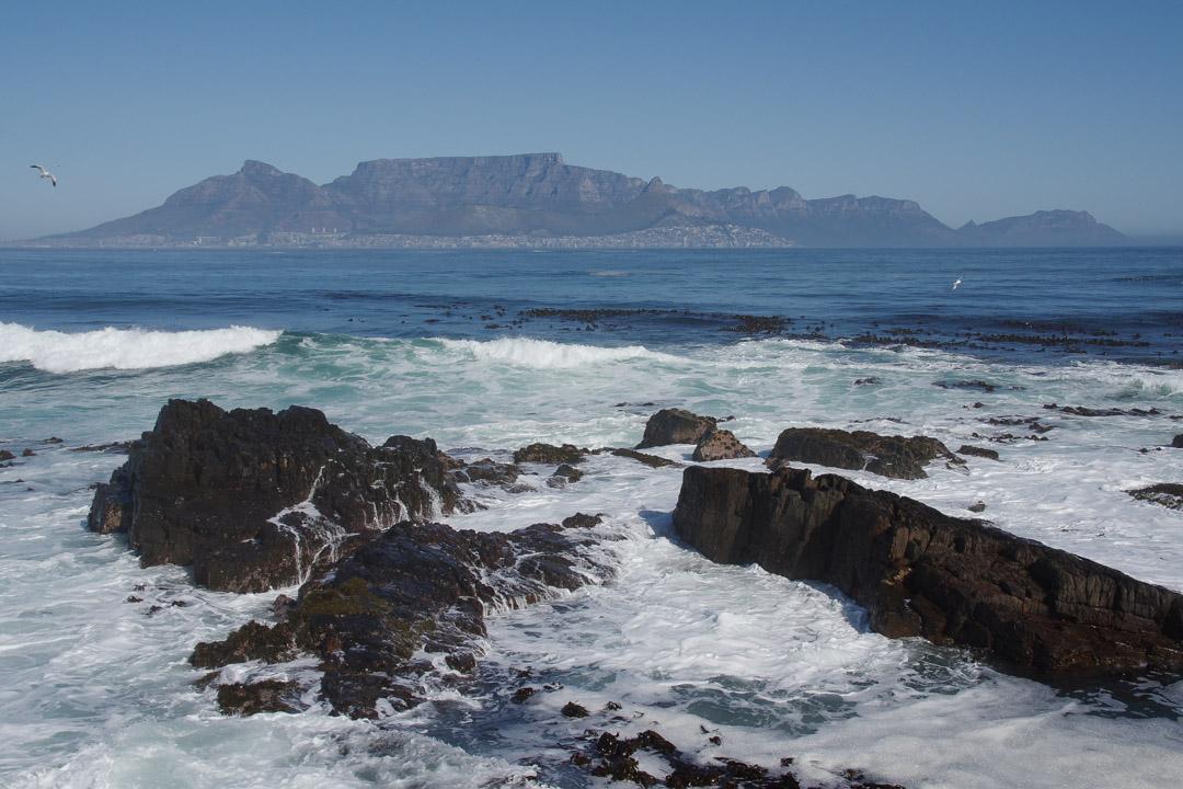 Vue sur Cape Town depuis Robben Island