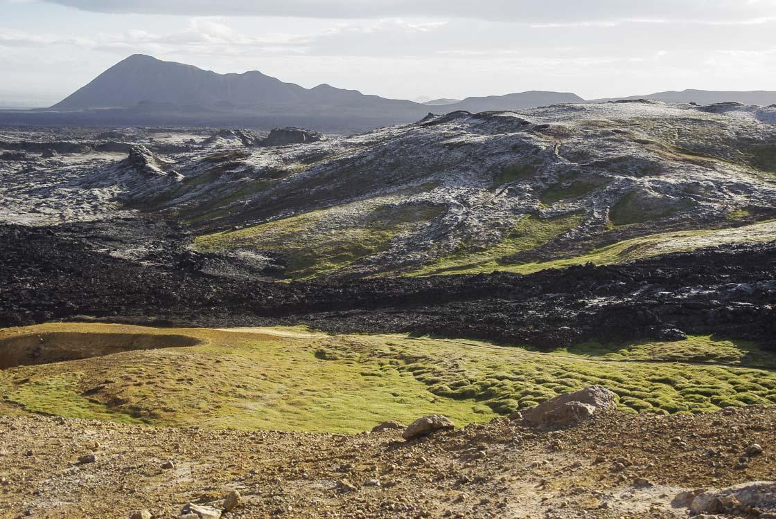 Coulée de lave de Leirhnjukur près de Myvatn en Islande