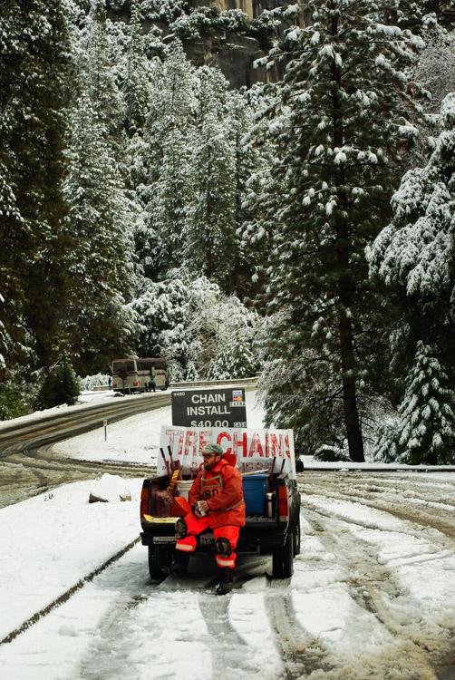 Chaines indispensables pour entrer dans la vallée de Yosemite