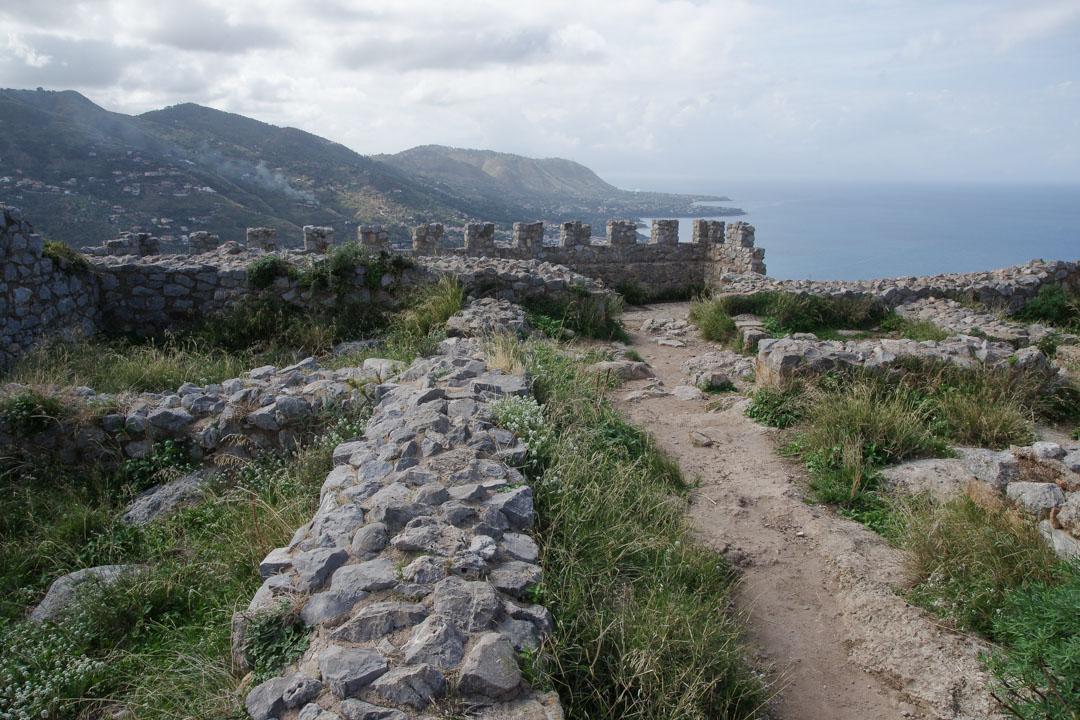 les ruines du château - Rocca di Cefalu