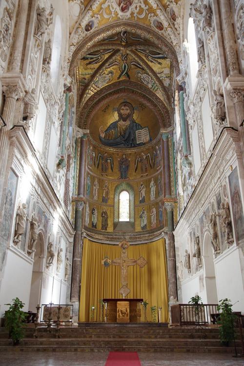 Coeur de la Cathédrale de Cefalu en Sicile
