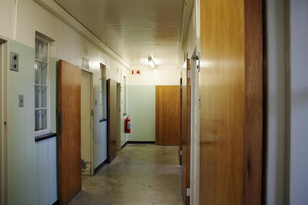 couloir de la prison de haute sécurité - Robben Island