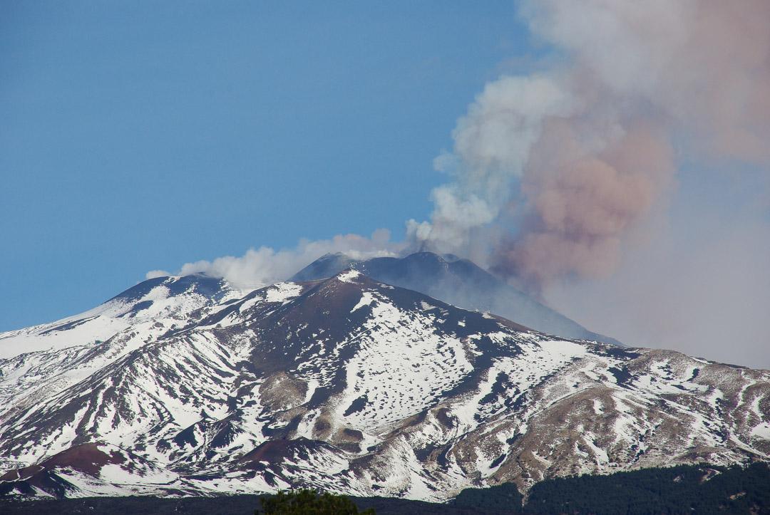 Eruption volcanique de l'Etna