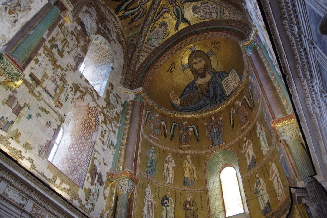 mosaique de la cathédrale de Cefalu