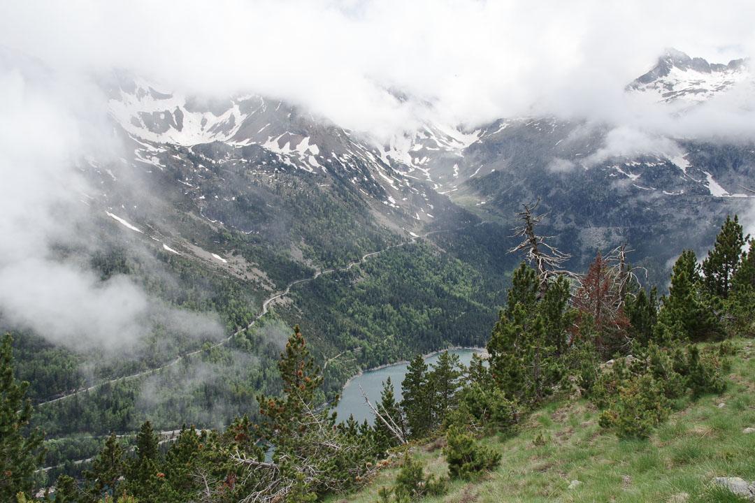 Panorama sur le lac d'Oredon avant d'entamer la redescente