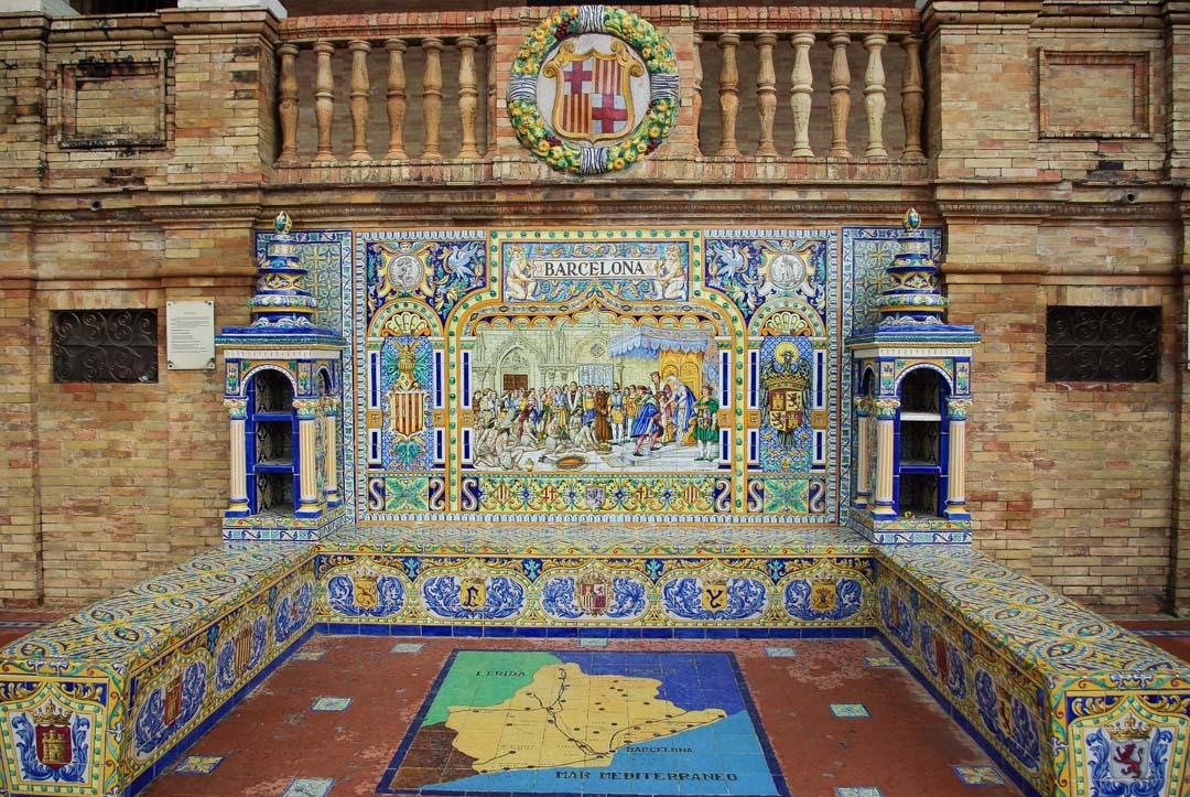 Place d'Espagne de Séville - Azulejos de Barcelone