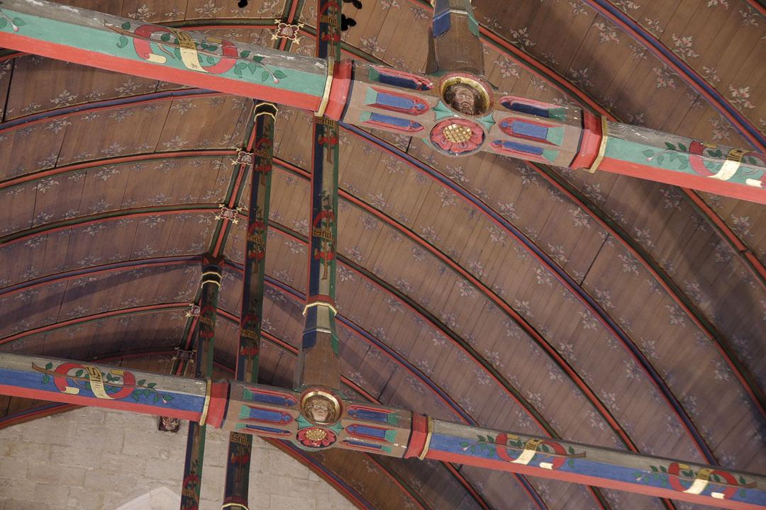 plafond de la salle des pôvres aux des hospices de beaune