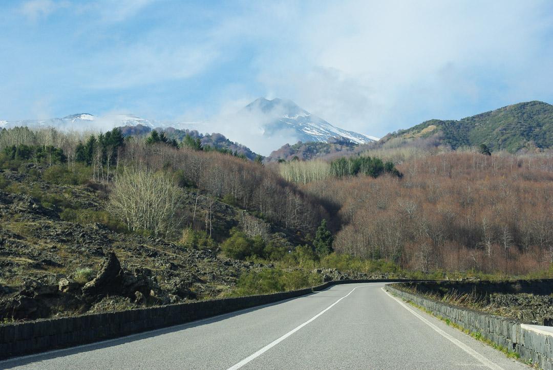 Route SP92 de l'Etna