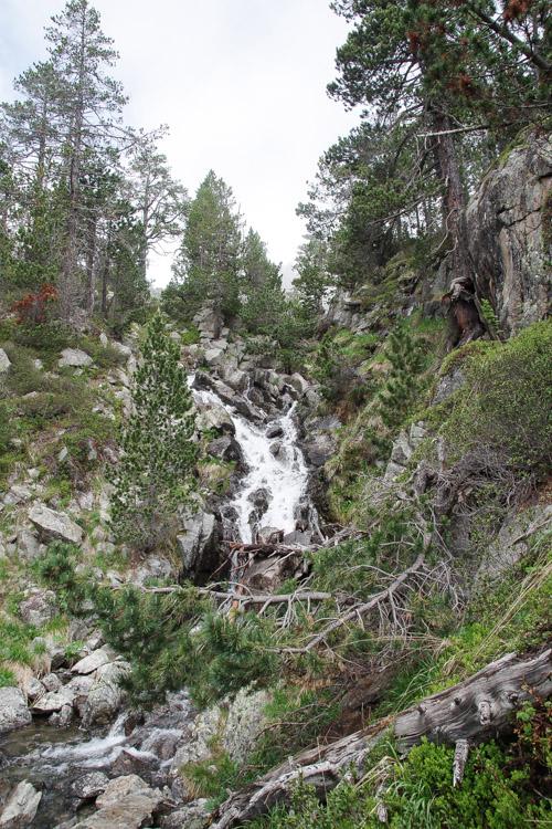Torrent de montagne entre les laquettes et le lac d'Orédon