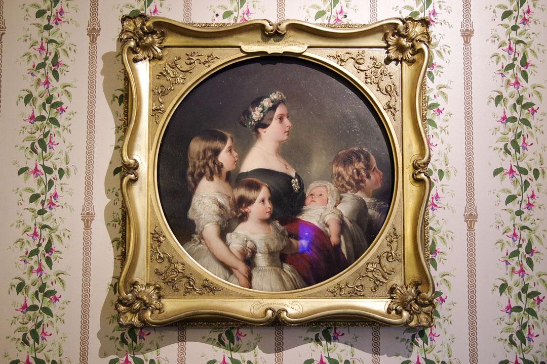 Tableau représentant les enfants de la famille royale britannique