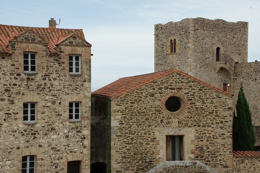 l'intérieur du château de Collioure
