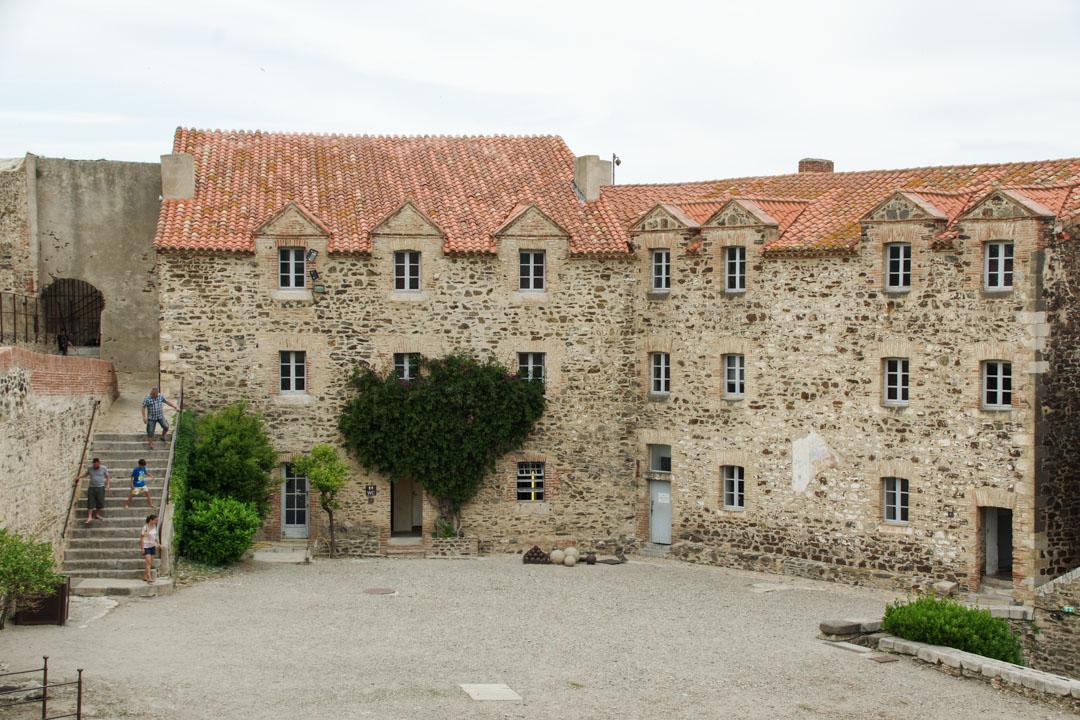 Cour du Château de Collioure