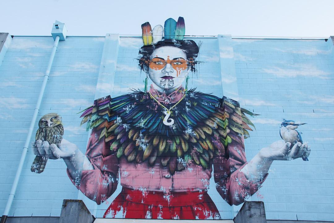 Fresque de Street art à Christchurch