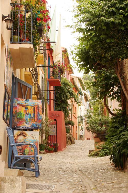 Les ruelles colorées de Collioure