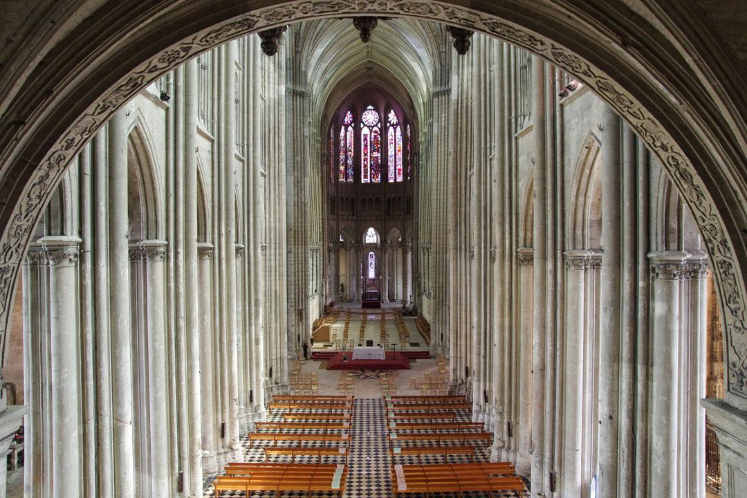 Intérieur de la basilique de Saint Quentin