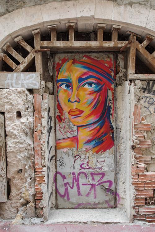 Street art dans le quartier du Panier