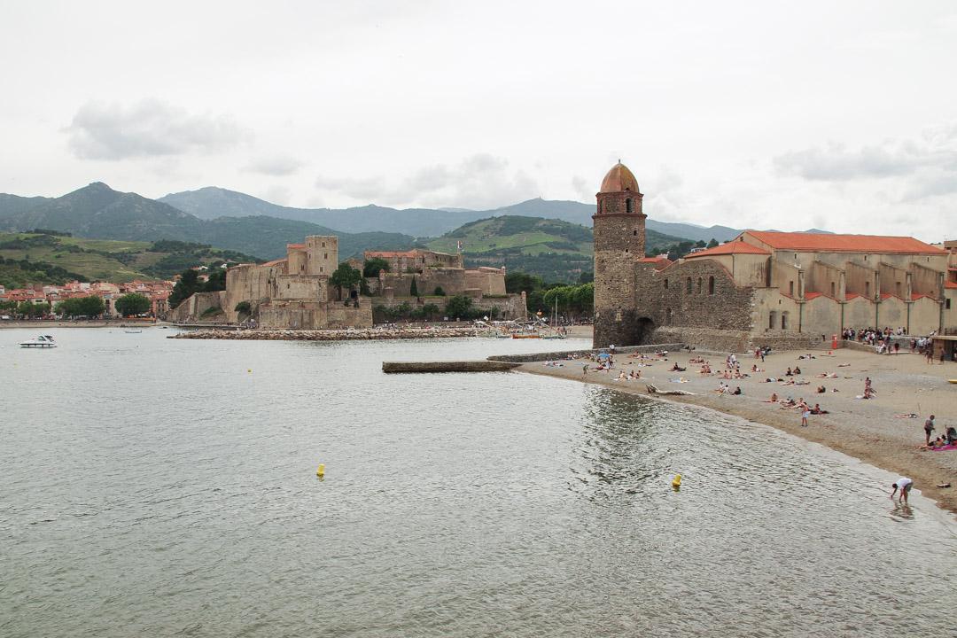 Panorama sur Collioure depuis la Jetée