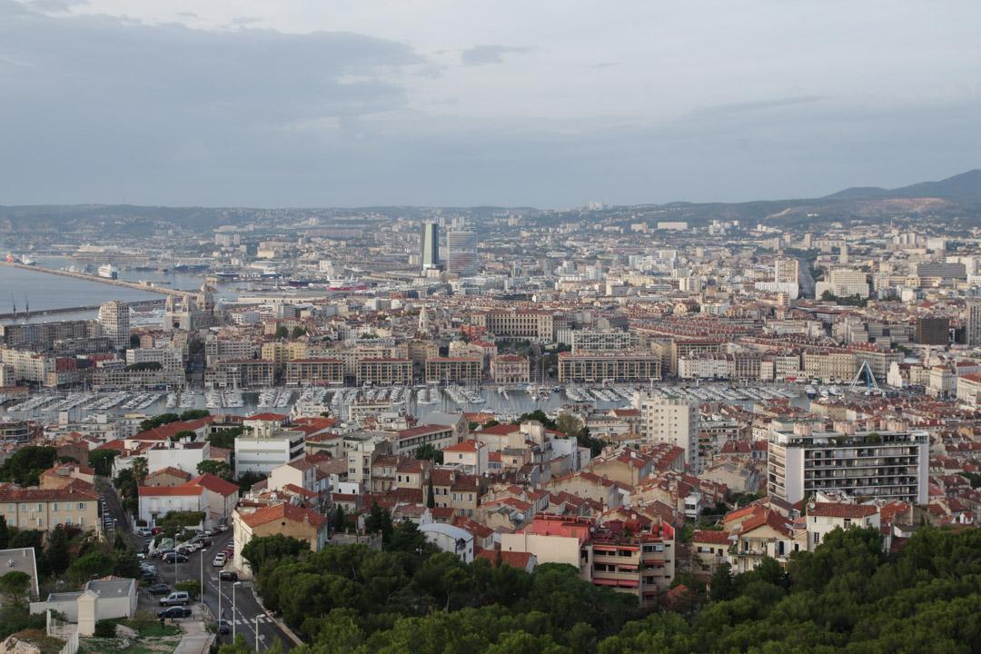 Panorama sur le vieux port depuis Notre Dame de la Garde