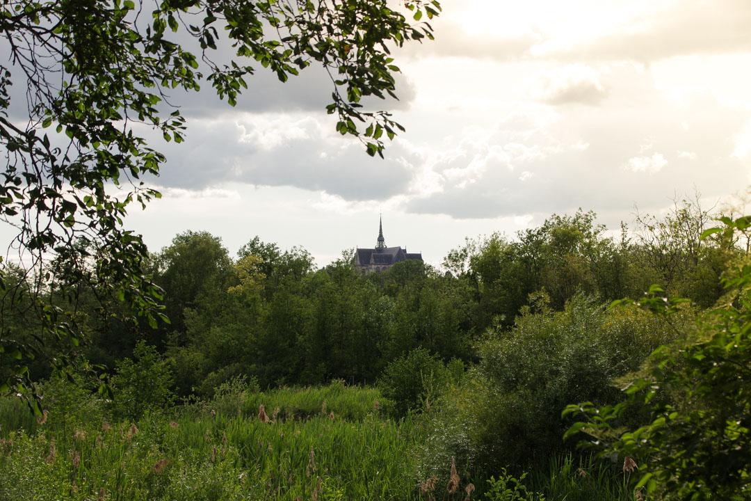 Vue sur la Basilique depuis le parc d'Isle