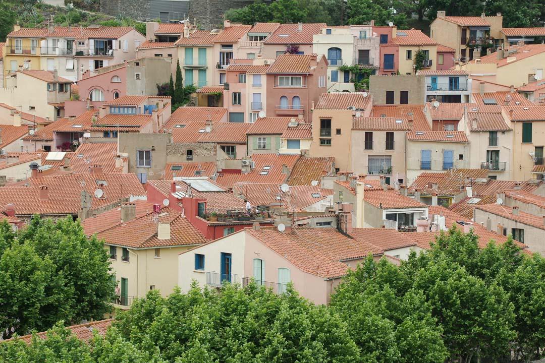 les toits de collioure - Pyrénées orientales