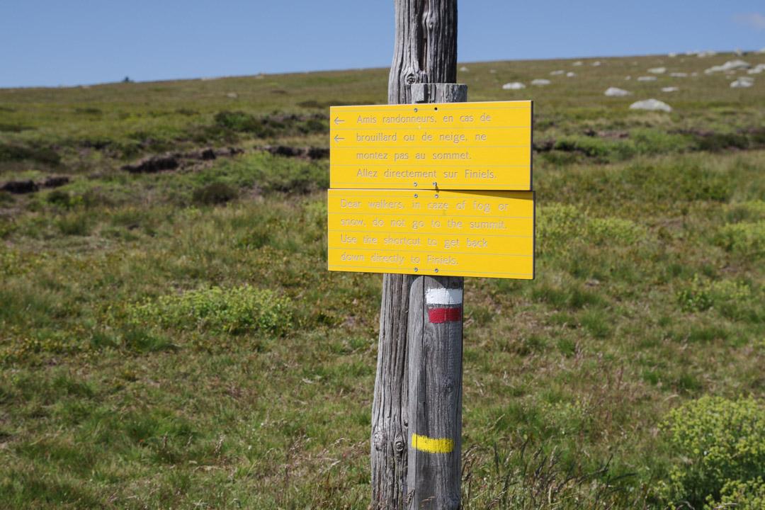 balisage raccourci GR75 mont lozere